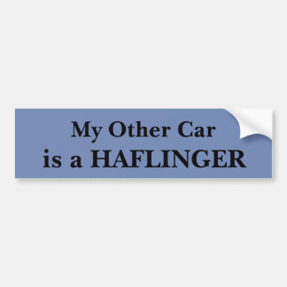 My Other Car Is A Haflinger Bumper Sticker