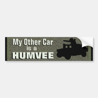 My Other Car Is A Humvee Funny Military Bumper Sticker
