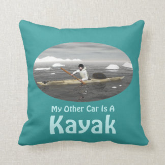 My Other Car Is A Kayak Throw Pillow