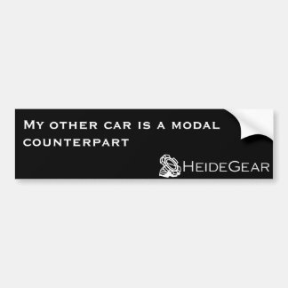 My Other Car is a Modal Counterpart Bumper Sticker