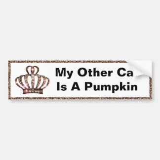 """My Other Car Is A Pumpkin"" bumper stickers"
