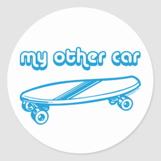 My Other Car is a Skateboard Stickers