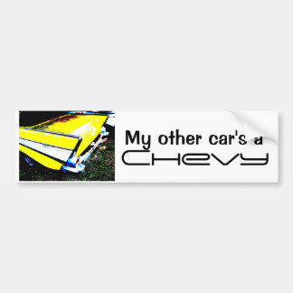 My other car's a Chevy Bumper Sticker