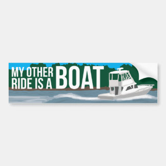 My other ride is a boat boating bumper sticker car