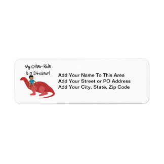 My Other Ride is a Dinosaur AA Return Address Label