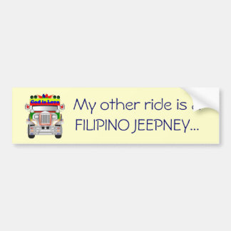 My other ride is a Filipino Jeepney Bumper Sticker