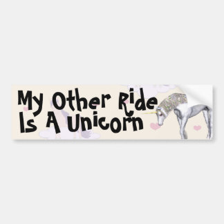 My other ride is a Unicorn Bumper Sticker