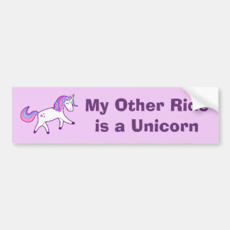 My Other Ride is a Unicorn - Pretty and Magical Bumper Sticker