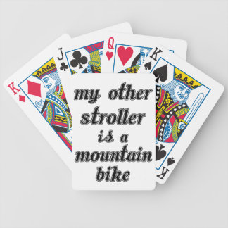 My Other Stroller Is A Mountain Bike Bicycle Playing Cards