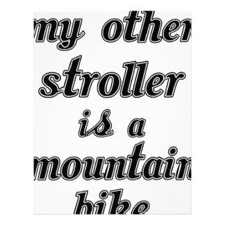 My Other Stroller Is A Mountain Bike Letterhead Design