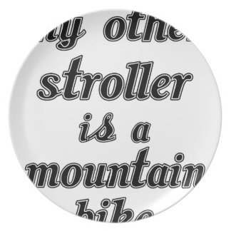 My Other Stroller Is A Mountain Bike Plate