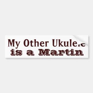 """""""My Other Ukulele"""" Ukulele Case Sticker Bumper Sticker"""