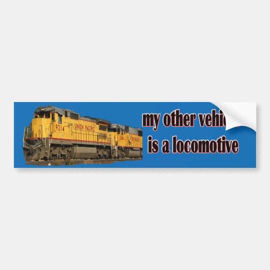 My Other Vehicle Is a Locomotive U.P. Bumper Sticker