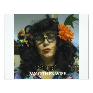 "MY OTHER WIFE 4.25"" X 5.5"" INVITATION CARD"
