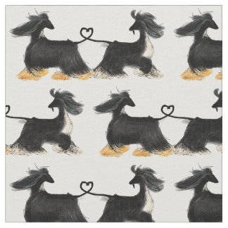 My own afghan hound design fabric