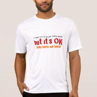 My Own Little World Text Design T-shirt