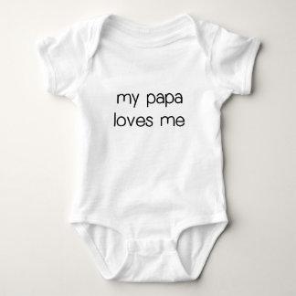 My Papa Loves Me Baby Bodysuit