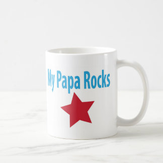 My papa rocks coffee mug