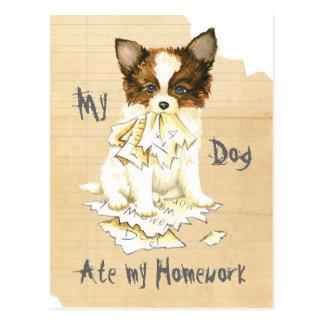 My Papillon Ate my Homework Postcard