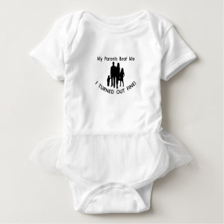 My Parents Beat Me I Turned Out Fine Baby Bodysuit