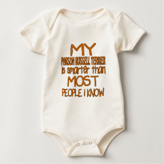 MY PARSON RUSSELL TERRIER IS SMARTER THAN MOST PEO BABY BODYSUIT