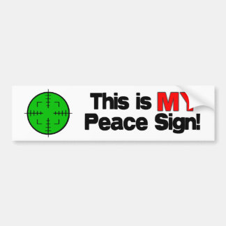 My Peace Sign Bumper Stickers