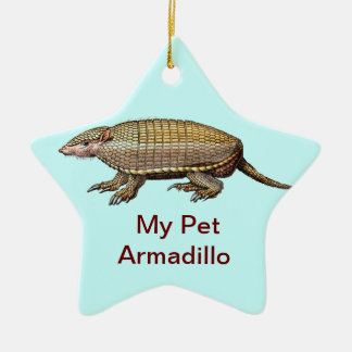 My Pet Armadillo - Cute & Cuddly - YES ! Ceramic Star Ornament