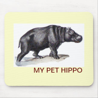 MY PET HIPPO MOUSE PAD