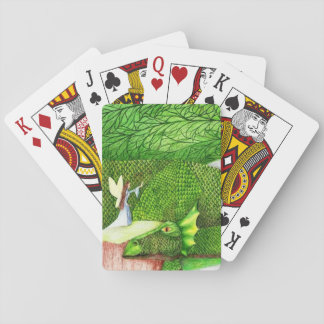 """My Pet"" original fantasy art Playing Cards"