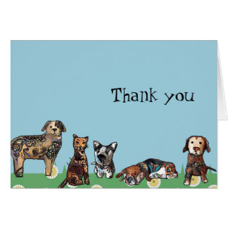 My Pets Thank you note Card