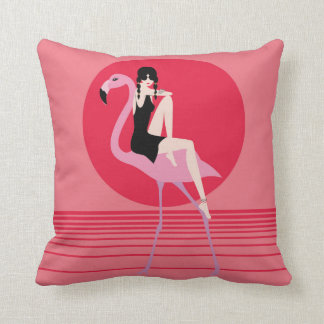 My pink Flemish Throw Pillow