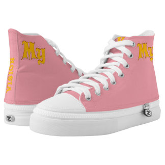 """My Pink Vision""""Vision Your Design' High Tops"""