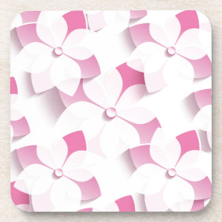 My pinks And Whites Flowers Beverage Coaster