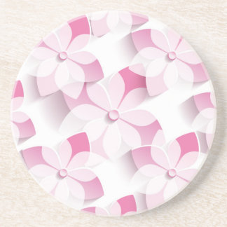 My pinks And Whites Flowers Drink Coaster