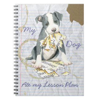 My Pit Bull Ate My Lesson Plan Spiral Notebook