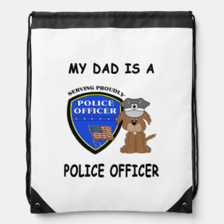 My Police Dad Drawstring Bag