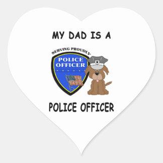 My Police Dad Heart Sticker