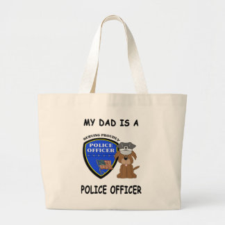 My Police Dad Large Tote Bag