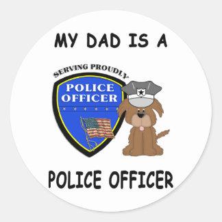 My Police Dad Round Sticker