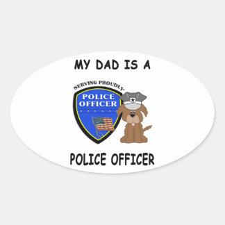 My Police Dad Sticker