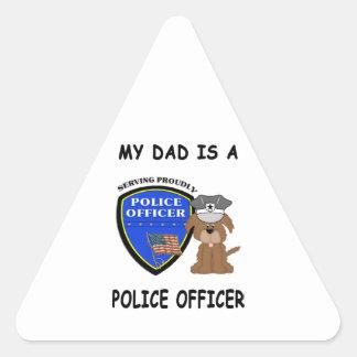 My Police Dad Triangle Sticker