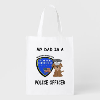 My Police Dad Reusable Grocery Bags