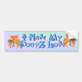 My PonyZ Love Bumpter Sticker