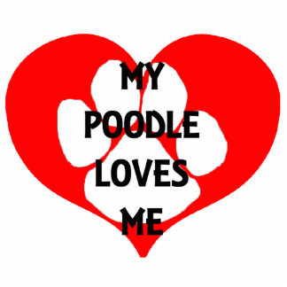my poodle loves me photo sculpture keychain