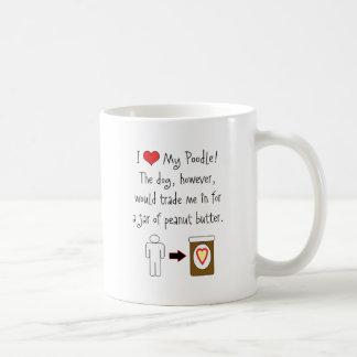 My Poodle Loves Peanut Butter Mug