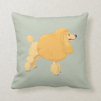 My Poodle Throw Pillow