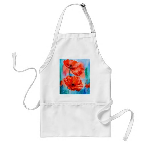 My Poppies in Bloom Apron
