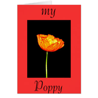 My Poppy Greeting Cards