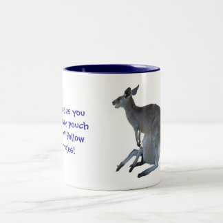 My Pouch, My Rules! Two-Tone Coffee Mug