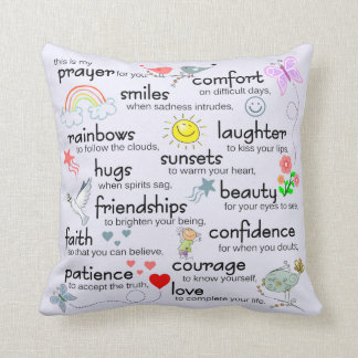 My Prayer For You Throw Pillows